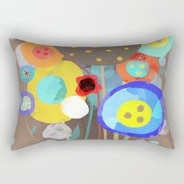 Blue Polka Dots - Ruth Fitta-Schulz Watercolour Art 2017 Rectangular Pillow