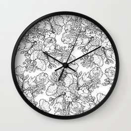 Ink to Paper - Silent Wilderness Wall Clock