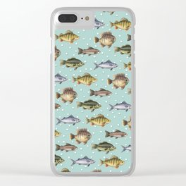Watercolor Fish Clear iPhone Case