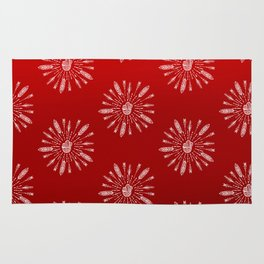 Red Aztec Ombre Pattern Rug
