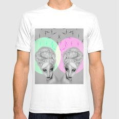 + Hearing Damage + MEDIUM White Mens Fitted Tee
