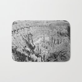 Amazing Bryce Canyon View in Monochrom Bath Mat