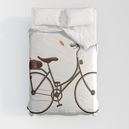 Cycling cartoon poster Comforters