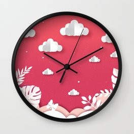 The cloud collector - paper cut series -  Wall Clock