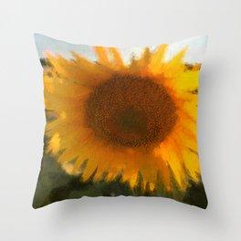love yellow Throw Pillow