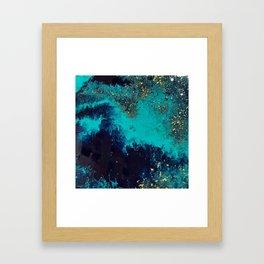 blue / gold Framed Art Print