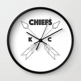 Chiefs Arrowhead Wall Clock