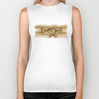 airplane Biker Tanks featuring Airplane by LaDa