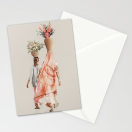 Mother and Daughter - Digital Collage Stationery Cards