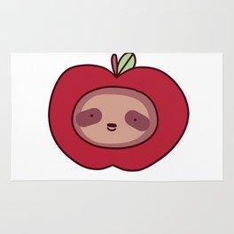 Apple Sloth Face Rug