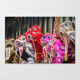 Chinese Lion Dance Vendor Canvas Print