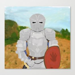 Knight of the Red Hand Canvas Print