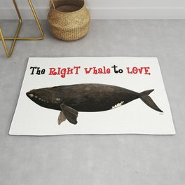 The right whale to love Rug