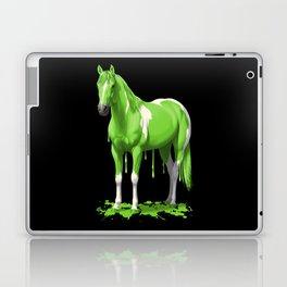 Neon Green Wet Paint Horse Laptop & iPad Skin