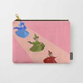 3 Fairies (Pink) Carry-All Pouch