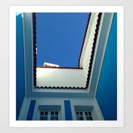 Blue Sky in Greece Art Print