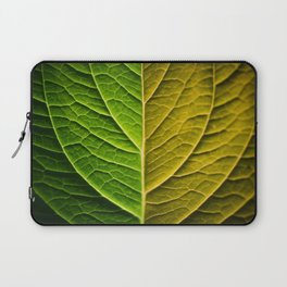 Abstract of Green Leaf Artistic Illustration Laptop Sleeve