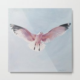 Pink gull Metal Print