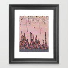 Traveling Skyline Framed Art Print