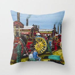 Day at the Steam Up Throw Pillow