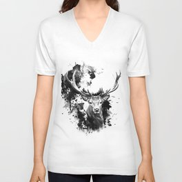 Once upon a Stag Unisex V-Neck
