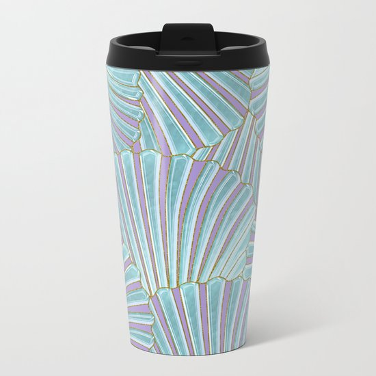 INTO THE DEEP (abstract pattern) Metal Travel Mug