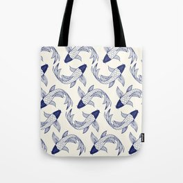 Japanese Koi Fish Pattern Tote Bag