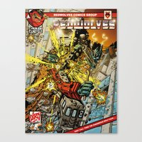 transformers Canvas Prints featuring transformers by Haribow