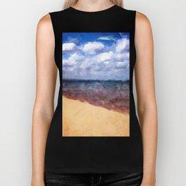 Beach Under Blue Skies Biker Tank