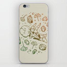 Triceratops Rocks! | Leaf Green & Pumpkin Spice Ombré iPhone Skin