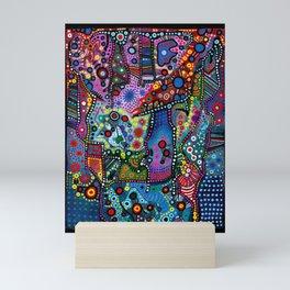 """""""Blue Candy Gloom"""" Mini Art Print"""