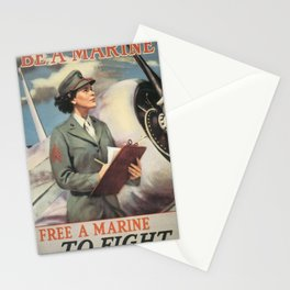 Vintage poster - Be a Marine Stationery Cards
