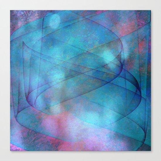 Blue tornado with fairy lights Canvas Print