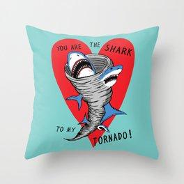 Shark To My Tornado Throw Pillow
