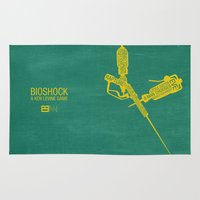 bioshock Area & Throw Rugs featuring Bioshock Typography by Kody Christian