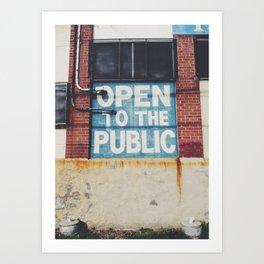Open in Philadelphia Art Print