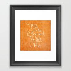 Psalm 41 Framed Art Print