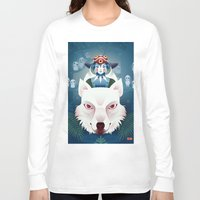 princess mononoke Long Sleeve T-shirts featuring Princess Mononoke by Roberta Oriano