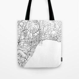 Malaga Map White Tote Bag