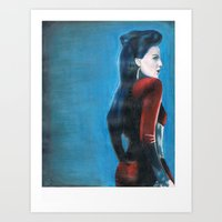 ouat Art Prints featuring ouat evil queen by laurensarts