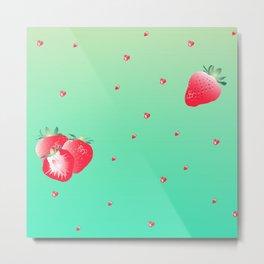 strawberry (green) Metal Print