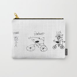 UX/UI Bike Sketch - User Experience Rocks Carry-All Pouch