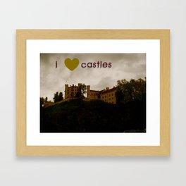 i ❤ castles Framed Art Print