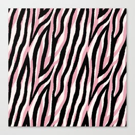 Fur mix texture - pastel zebra 01 Canvas Print