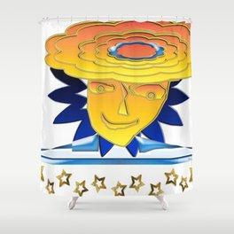 Doodle Sun-flower-man, abstract, fun design Shower Curtain