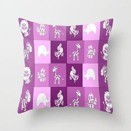 Nursery Animal Print Throw Pillow