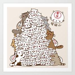 Cat Tower Art Print