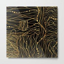 gold bits Metal Print
