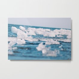 Icebergs in Southern Iceland Metal Print