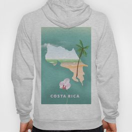 Costa Rica travel poster Hoody